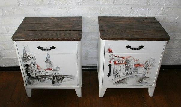 Как обновить старый полированный стол своими руками фото